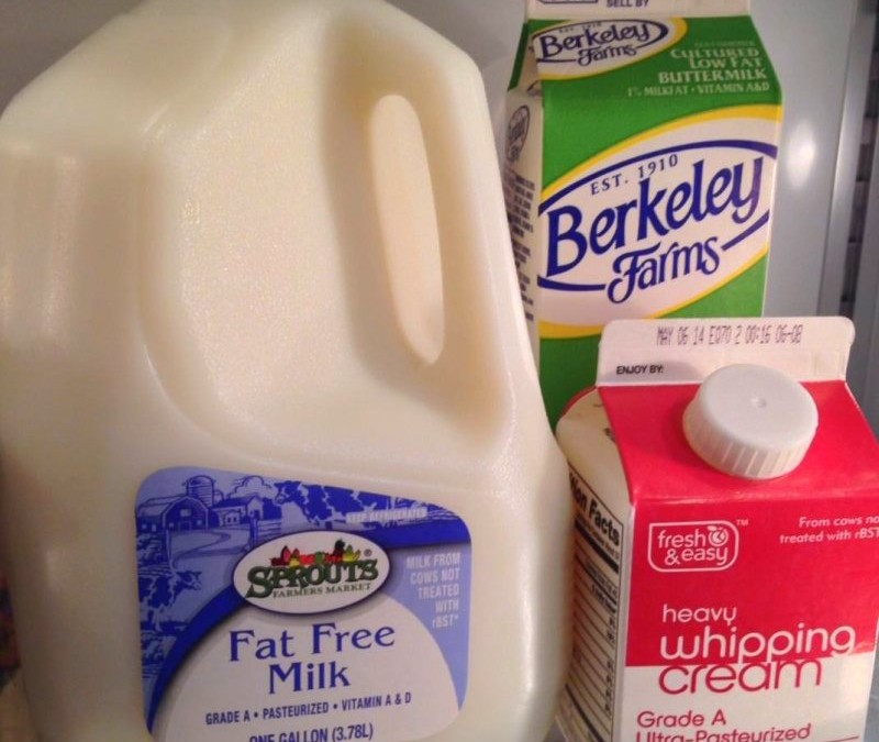 Milk sell by date
