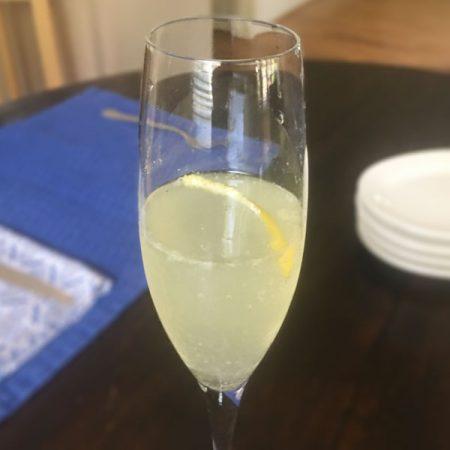 Dutch 75 cocktail in flute