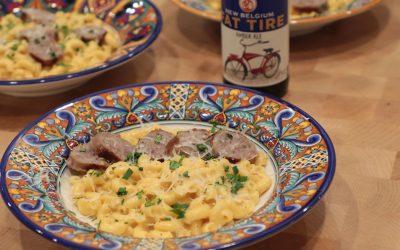Beer Bratwurst Macaroni and Cheese Recipe