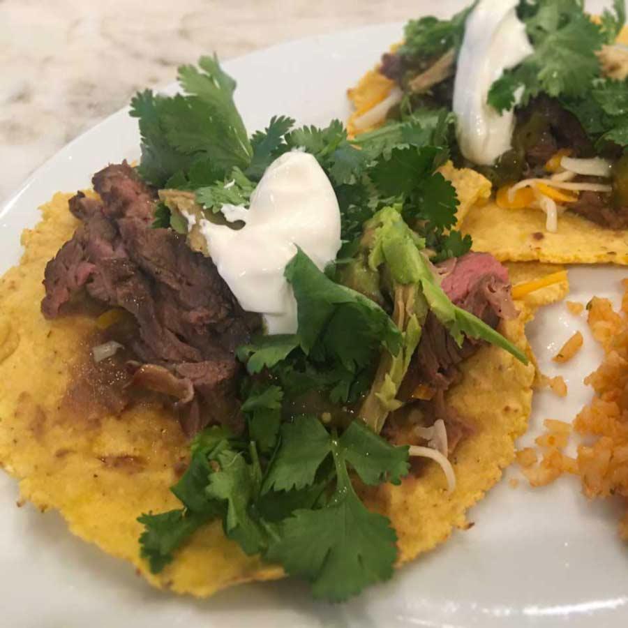 Steak Tacos with homemade tortillas